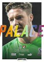 Crystal Palace v Bournemouth 3rd December 2019 Match Programme 2019/2020