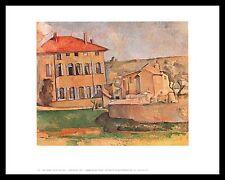 Paul Cezanne House at Aix Poster Kunstdruck mit Alu Rahmen in schwarz 56x71cm
