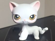 Littlest Pet Shop Cat #138 LPS Grey & White with Green Brown Hazel Eyes