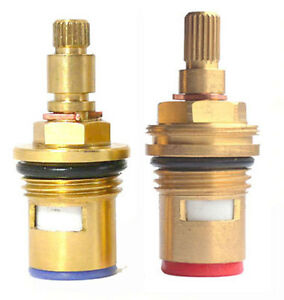 "Replacement brass ceramic disc tap cartridge valve quarter turn 24 TEETH 1/2"""