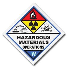 Hazardous Materials Operations Haz Mat Firefighter Reflective Decal Sticker