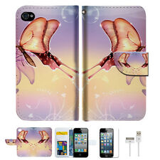 Dream Butterfly Wallet Case Cover For Apple iPhone 4 4S -- A010