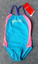 SPEEDO Toddler Girls Sporty Twinback 1PC Swimming Suit Size 4 Brand tags