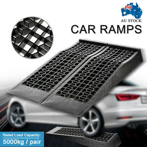 Portable 5 Ton Low Profile Car Ramps Pair 70mm Rise Antiskid Lowered Car Ramp