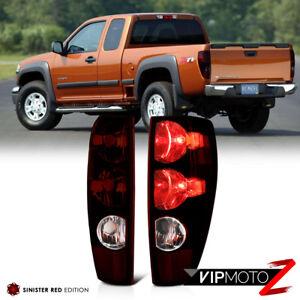 For 04-12 Chevy Colorado GMC Canyon RED SMOKE Tail Light Brake Signal Lamp Pair