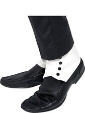 Spats, White with Black Buttons Adult Smiffys Fancy Dress Costume Accessory