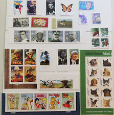 US 2010 COMMEMORITIVE STAMP YEAR SET 42 LOT TOTAL MNH BLOCKS AND STRIPS NICE SET