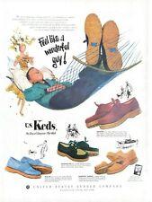 1952 Keds Mens Shoes Vintage Print Ad Feel Like a Wonderful Guy Hammock
