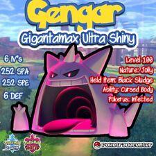 Pokemon Sword And Shield Gigantamax Shiny Gengar/ 6ivs / Pokerus / Max Evs