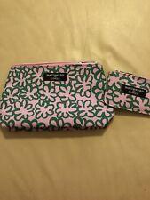 Clinique Zippered Cosmetics Makeup Travel Bags *NEW* - Marimekko Pink/green