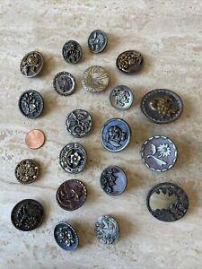 Lot of (20) Antique Vintage Buttons