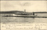 Richfield Springs NY Steamer Vixen Lake Canadarago c1905 Postcard jrf