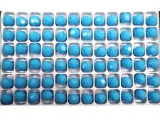 72 Genuine Preciosa Czech Round Mc Crystal Beads 8mm Blue Turquoise Opaque