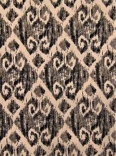 Hilton Charcoal Tribal Rustic Primitive Diamond Abstract Sofa Upholstery Fabric