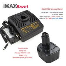 1+1 COMBO 12V 3.0AH Ni-Mh Battery + Charger DEWALT DC9071 DW9071 DW9072 Cordless
