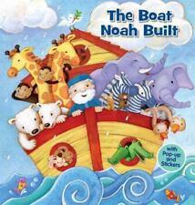THE BOAT NOAH BUILT New BOOK Pop Up STICKERS Interactive NOAH'S ARK Christian