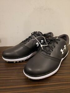 Under Armour UA Men's SL Spikeless Golf Shoes Black Red Size 10 3019880-001