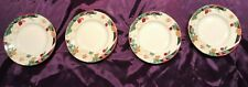 "4 Tienshan Fine China Magnolia 6"" Saucers Gold Trim"