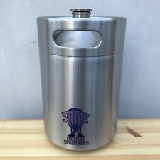 Mini Barril De Cerveza gruñón 5L De Acero Inoxidable Botella de rosca desnuda barril