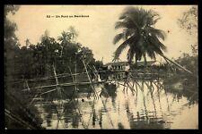 Vietnam  Indo China Vintage Postcard  Bamboo Bridge