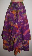 New Fair Trade Tie Dye Cotton Skirt 14 16 18 - Hippy Ethnic Ethical Boho Hippie