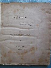 HUMBERT DE SUPERVILLE : JESUS. Leyde, 1815.