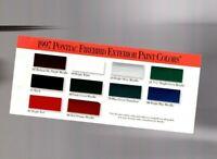 1997 Pontiac FIREBIRD Exterior Color Chip Chart Paint Sample Brochure: TRANS-AM,