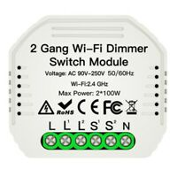 2 Gang DIY WiFi Smart 2 Wege Licht LED Dimmer Modul Schalter Smart Life/Tuy O4H3