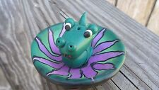 NEW FIMO Clay Baby Dragon Stick Incense Holder