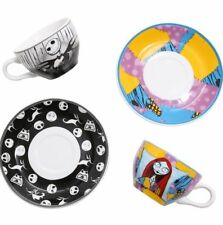 Disney The Nightmare Before Christmas Jack and Sally Tea Set Cups Saucers