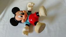 Disney Mickey Mouse Blue Shirt & Red Shorts Plastic Doll movable hands and feet