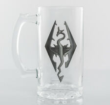 Skyrim Dragon Symbol Stein Glass