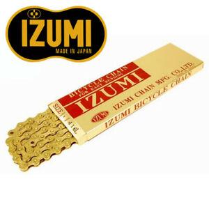 "Izumi 410TG Gold Bicycle Track Chain - Single Speed, BMX, Fixed Gear 1/8"""
