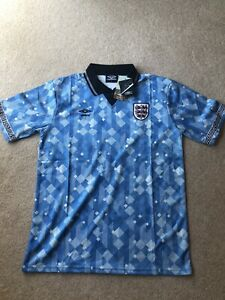 NEW Large Umbro Limited Edition England Italia Replica 1990 Away Shirt