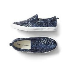 Gap Kids Girl's Spr. '17 Blue Galaxy Glitter Slip On Sneakers Shoes 2 Youth NWT