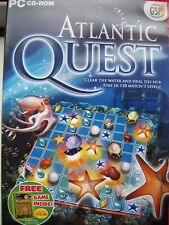 2 GAME PACK---1-ATLANTIC QUEST---2-BUMBLEBEE---MATCH 3 GAMES---PC CD