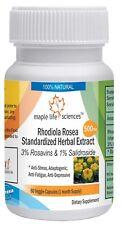 Rhodiola Rosea Root Extract Capsules 3% Rosavins 1% Salidroside Boosts Energy