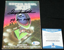 RARE Terry Bradshaw signed Super Bowl XIII Media Guide, Steelers, Beckett BAS