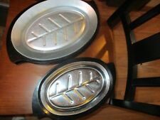 Nordic Ware Sizzler Set (2) 310 Steak Fajita Plates and (2) 1112 Large Platters