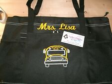 School Bus Sketch Personalized Tote Bag School Bus Driver Gift