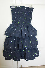 Pre-owned Gilly Hick Strapless Dress Navy Size Small