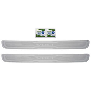 OEM NEW Stainless Sill Guards Skid Plates w/ Volt Logo 11-15 Chevrolet 19244297