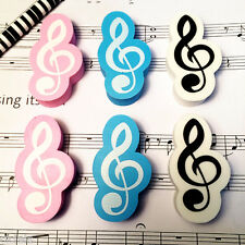 1pc Cute Pencil Music Notes Rubber Mini Eraser Gift Stationary School Student
