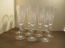 "Royal Crystal Rock Novecento Champagne Flutes  -8-7/8"" Set of 11 - EUC"