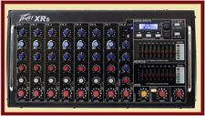 Peavey XR S 1000 Watt Rack Mountable Powered 8 Channel Mixer w/Bluetooth/USB XRS