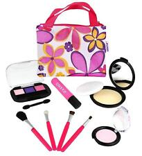 Makeup Play Set Cosmetic Kids Toddler Girl Gift Toy Tote Pretend Mirror NEW