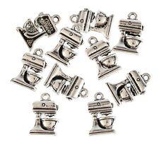 10pcs Food Mixer Cooking Appliance Beads Tibetan Silver Charms DIY Bracelet