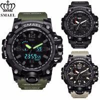Mens Boy Military Sport Wrist Watch Waterproof Quartz Analog Digital Chronograph