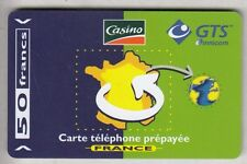 FRANCE  TELECARTE / PHONECARD  PREPAYEE .. 50F GTS HYPER GEANT CASINO 03/02 +N°