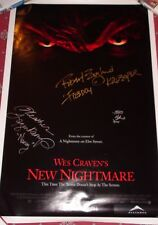 Autographed WES CRAVEN'S NEW NIGHTMARE Poster Signed Englund, Langenkamp, Hughes